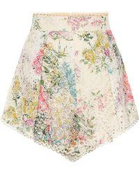 Zimmermann Heathers High-waisted Cotton Shorts