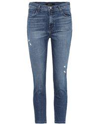 J Brand - Jeans cropped Ruby a vita alta - Lyst