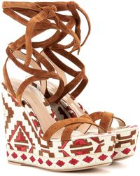 Gianvito Rossi - 'cheyenne' Wedge Sandals - Lyst