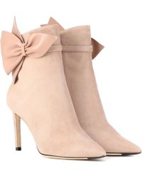 Jimmy Choo Kassidy 85 Suede Ankle Boots - Pink