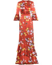 Erdem - Venice Floral-printed Silk Dress - Lyst