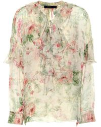 Polo Ralph Lauren - Floral-printed Silk Blouse - Lyst