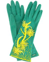 Prada - Exclusive To Mytheresa. Com – Embellished Leather Gloves - Lyst