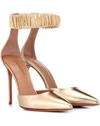 072b1f0dd5f Lyst - Nicholas Kirkwood Carnaby Patent-Leather Block-Heel Pumps in Pink