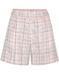 Miu Miu - Knitted Wool And Cotton-blend Shorts - Lyst
