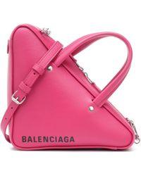 Balenciaga - Extra Small Triangle Leather Bag - Lyst