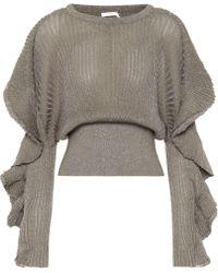 Chloé - Metallic Silk-blend Sweater - Lyst