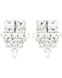Saint Laurent - Embellished Clip-on Earrings - Lyst