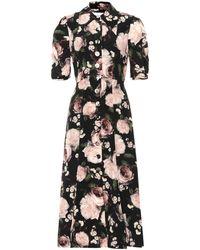 Erdem - Gisella Floral Silk Dress - Lyst