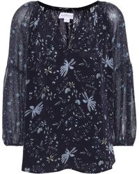 Velvet - Kandee Floral-printed Blouse - Lyst