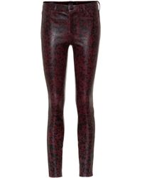 J Brand - L8001 Mid-rise Skinny Leather Pants - Lyst
