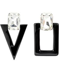 Saint Laurent - Smoking Unmatched Clip-on Earrings - Lyst