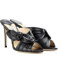 Jimmy Choo | Keely 100 Leather Sandals | Lyst