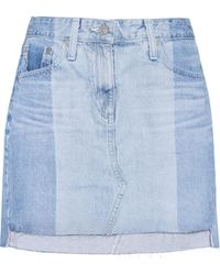 AG Jeans - The Sandy Denim Miniskirt - Lyst