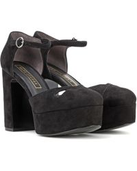 Marc Jacobs - Suede Plateau Court Shoes - Lyst
