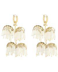 Ellery Genealogy Xl Palm Earrings - Metallic