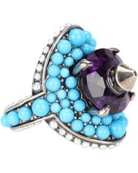 Gucci - Crystal And Bead-embellished Ring - Lyst