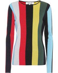 Diane von Furstenberg - Striped Wool-blend Sweater - Lyst