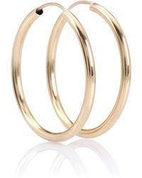 Loren Stewart - Ultra Light 14kt Gold Hoop Earrings - Lyst