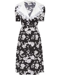 Alessandra Rich - Floral-printed Faille Dress - Lyst