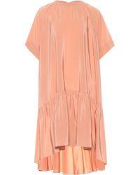 Rochas - Kleid aus Seiden-Crêpe - Lyst
