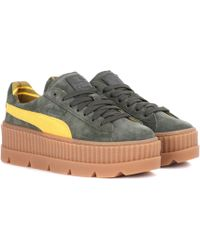 6853273e31a Lyst - PUMA Pointed Toe Creeper Patent Platform Sneaker in Gray