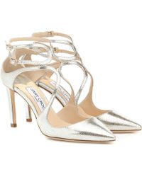 Jimmy Choo - Lancer 85 Leather Court Shoes - Lyst