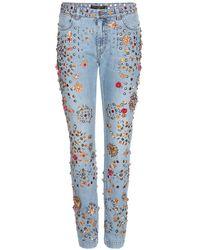 Dolce & Gabbana - Jeans boyfriend con decorazioni - Lyst