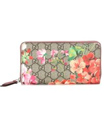 Gucci - Blooms GG Supreme Coated-canvas Wallet - Lyst