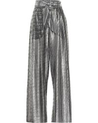 Christopher Kane - High-rise Metallic Wide-leg Pants - Lyst