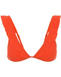 Tory Burch - Flounce Bikini Top - Lyst