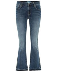 7 For All Mankind - Jeans Cropped Boot - Lyst