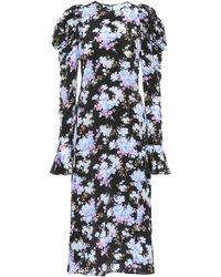 Les Rêveries - Exclusive To Mytheresa – Floral Silk-crêpe Midi Dress - Lyst