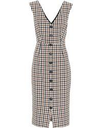 Veronica Beard - Lark Checked Cotton-blend Dress - Lyst