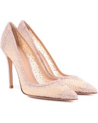 Gianvito Rossi - Exclusive To Mytheresa.com – Rania Crystal-embellished Pumps - Lyst