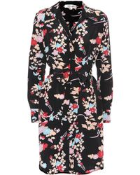 Diane von Furstenberg - Floral Silk Shirt Dress - Lyst