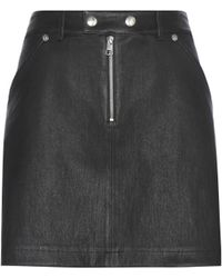 Calvin Klein Jeans - Exclusive To Mytheresa. Com – Leather And Suede Miniskirt - Lyst