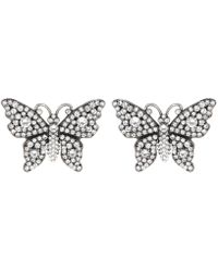 Gucci - Crystal Butterfly Earrings - Lyst