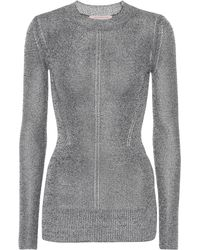 Christopher Kane - Metallic Jersey Jumper - Lyst