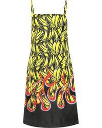 cc6071e43995 Prada Banana-printed Dress in Yellow - Lyst