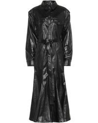 Y. Project - Faux Leather Shirt Dress - Lyst