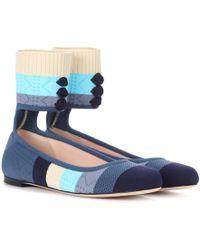 Fendi - Knitted Ballerinas - Lyst