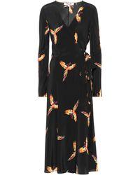 Diane von Furstenberg - Tilly Printed Silk Wrap Dress - Lyst