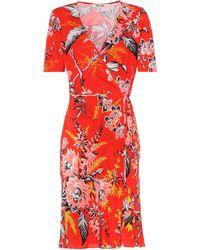 Diane von Furstenberg - Floral-printed Silk Wrap Dress - Lyst