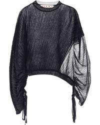 Marni - Asymmetric Silk And Cotton Top - Lyst