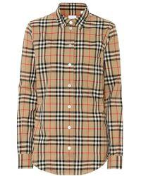 Burberry - Camicia a quadri in cotone - Lyst
