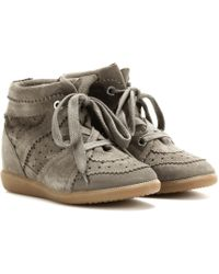 Isabel Marant - Toile Bobby Concealed Wedge Suede Trainers - Lyst