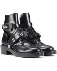Balenciaga - Ceinture Leather Ankle Boots - Lyst