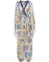 Dolce & Gabbana - Printed Silk Jumpsuit - Lyst
