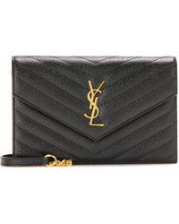 Saint Laurent - Classic Monogram Quilted Leather Shoulder Bag - Lyst